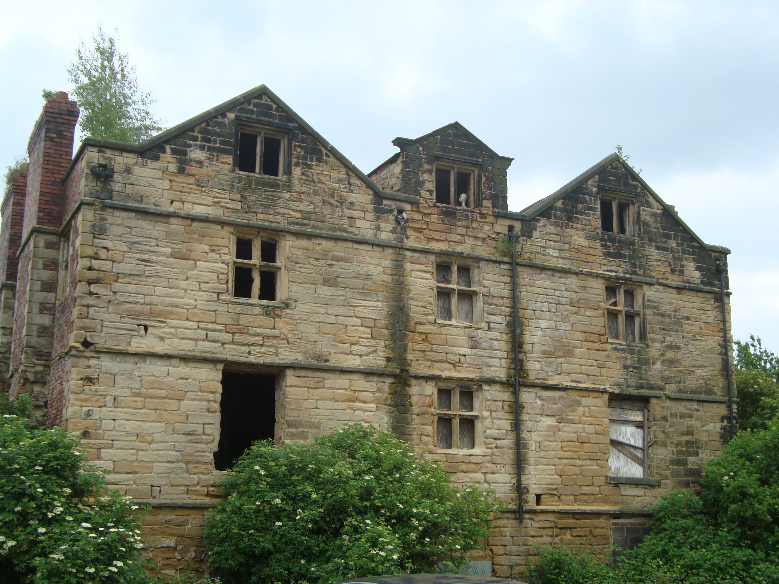 Grimethorpe Hall north wall 2014